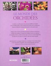Le Monde Des Orchidees - 4ème de couverture - Format classique