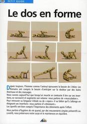 Petit Guide T.257 ; Le Dos En Forme - Intérieur - Format classique