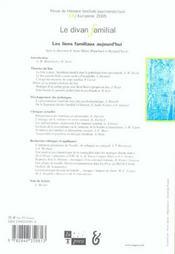 Revue Le Divan Familial T.15 - 4ème de couverture - Format classique