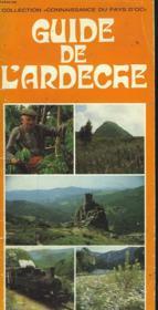 Guide De L'Ardeche - Couverture - Format classique