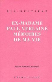 Memoires De Ma Vie Ancienne Edition - Intérieur - Format classique