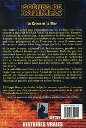 Le crime et la mer - 4ème de couverture - Format classique