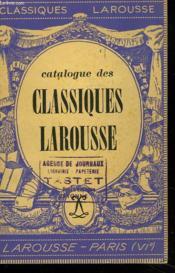 Catalogue Des Classiques Larousse - Couverture - Format classique
