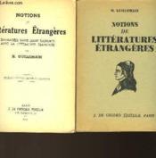 Notions De Litteratures Etrangeres - Couverture - Format classique