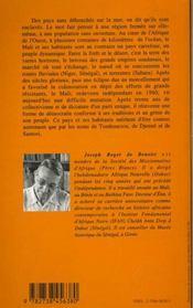 Le Mali - 4ème de couverture - Format classique