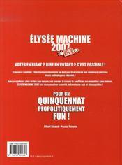 Élysée machine 2007 ; give me five - 4ème de couverture - Format classique