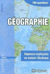 Géographie - Intérieur - Format classique