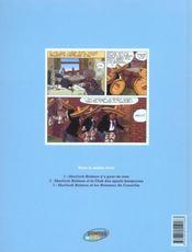 Baker Street t.4 ; Sherlock Holmes et l'ombre du M - 4ème de couverture - Format classique