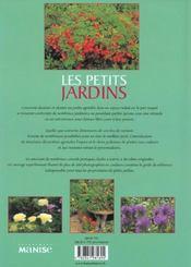 Les Petits Jardins - 4ème de couverture - Format classique