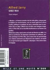 Ubu roi - 4ème de couverture - Format classique