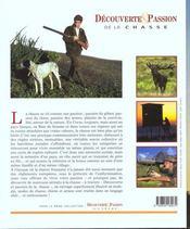 Decouverte Et Passion De La Chasse - 4ème de couverture - Format classique