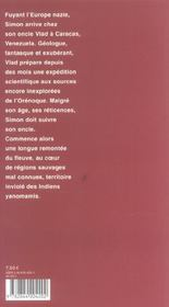 Sur L'Orenoque (Ne) - 4ème de couverture - Format classique