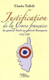 Justification De La Corse Repub. - Couverture - Format classique
