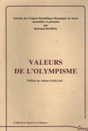 Valeur de l'olympisme - Couverture - Format classique