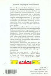Sur Dada : Essai Sur L'Experience Dadaiste De L'Image - 4ème de couverture - Format classique