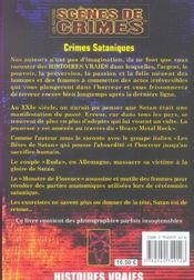 Crimes Sataniques N13 - 4ème de couverture - Format classique