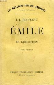 Emile Ou De L'Education. Tome 1. - Couverture - Format classique