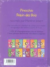 Pinocchio ; Robin Des Bois - 4ème de couverture - Format classique