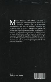 Sur Le Texte. Enonciation Et Mots Du Discours En Allemand - 4ème de couverture - Format classique
