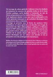 La Culture Generale A Travers Les Grands Auteurs Xviie-Xxe Siecle - 4ème de couverture - Format classique