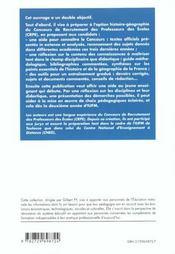 Histoire-Geographie Preparation Au Concours De Recrutement Des Professeurs Des Ecoles - 4ème de couverture - Format classique