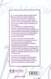Troubles Bipolaires: Pratiques, Recherches, Et Perspectives. - 4ème de couverture - Format classique