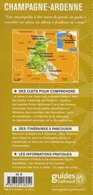 Champagne Ardenne - 4ème de couverture - Format classique