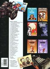 Spirou et Fantasio t.38 ; la jeunesse de Spirou - 4ème de couverture - Format classique