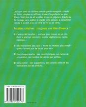 Recettes Creatives : Tapas - 4ème de couverture - Format classique