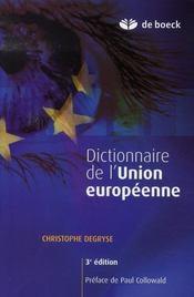 Dictionnaire de l'union européenne (3e édition) - Intérieur - Format classique