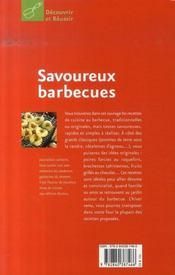 Savoureux barbecues - 4ème de couverture - Format classique