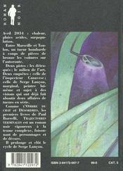Trajectoires terminales - 4ème de couverture - Format classique