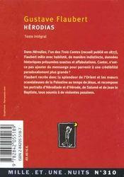 Hérodias - 4ème de couverture - Format classique