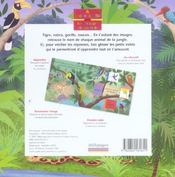 À cache-cache avec les animaux de la jungle - 4ème de couverture - Format classique