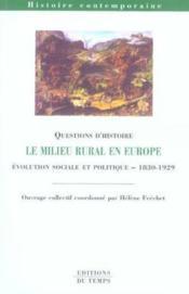 LE MILIEU RURAL EN AUROPE (édition 2005/2006) - Couverture - Format classique