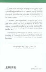 LE MILIEU RURAL EN AUROPE (édition 2005/2006) - 4ème de couverture - Format classique