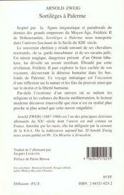 Sortileges A Palerme - 4ème de couverture - Format classique