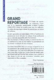 L'etat du reportage ou l'heritage d'albert londres pour le xxi siecle - 4ème de couverture - Format classique