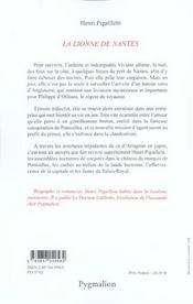 La Lionne De Nantes - 4ème de couverture - Format classique