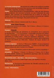 Revue L'Autre T.24; Grandir ; Entretien Avec Aime Cesaire - 4ème de couverture - Format classique