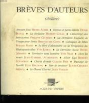 Breves d'auteurs (theatre) - Couverture - Format classique