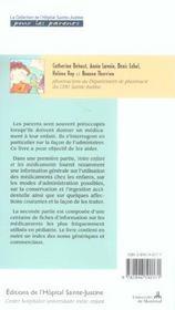 Votre Enfant Et Les Medicaments - Informations Et Conseils - 4ème de couverture - Format classique