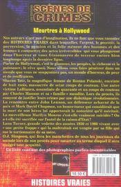 Meurtres A Hollywood N12 - 4ème de couverture - Format classique