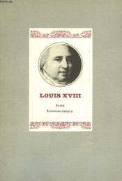 Louis Xviii, Suite Iconographique - Couverture - Format classique