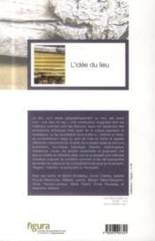 Idee Du Lieu - 4ème de couverture - Format classique