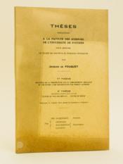 Thèses présentées à la Faculté des Sciences de l'Université de Poitiers. 1re Thèse : Influence de la température sur le comportement cristallin du fer soumis à des déformations par torsion alternée ; 2e thèse : Nature du poli des métaux - Couche de Beilby. Soutenue le 3 février 1958 - Couverture - Format classique