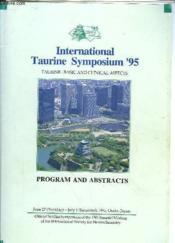 International Taurine Symposium '95 - Couverture - Format classique