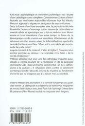 La Verite A Un Nom Et Un Visage - 4ème de couverture - Format classique