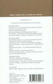 Babel ; Internationale De L'Imaginaire T.245 ; Cultures, Nourriture - 4ème de couverture - Format classique