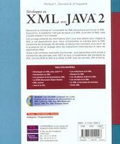Reference Developpement Xml Et Java 2 - 4ème de couverture - Format classique